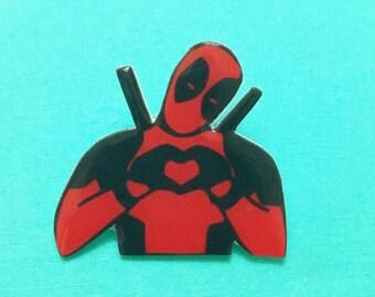 "Superhero collection ""Deadpool Love"" Deadpool Inspired Brooch"