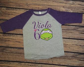 Girl Ninja Turtle Birthday Shirt