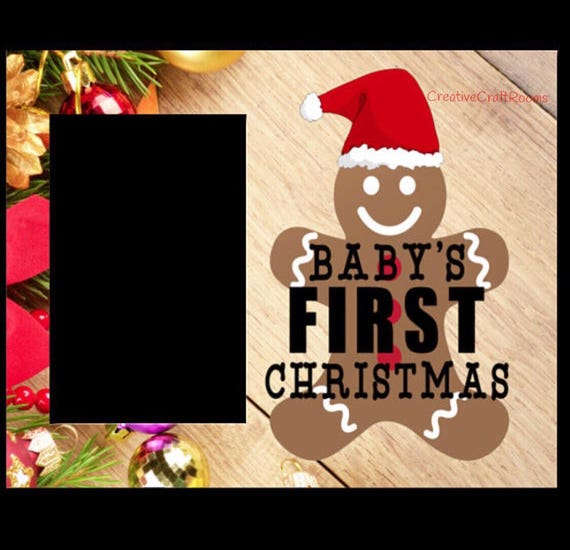 Baby's First Christmas Sublimation Digital Download, Offset Photo frame with easel Digital Sublimation Template, Instant Download