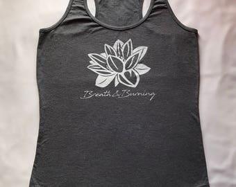 Breath & Burning Women's Yoga Racer Tank