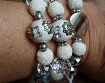 Essential oils diffuser bracelet, lava bead bracelet, diffuser bracelet, Beaded diffuser bracelet, bead diffuser bracelet