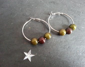 Magic beads and ear rings, Silver Earring