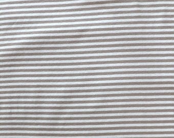 Fabric - Cotton/elastane stripe rib fabric - 270gsm - beige/ivory