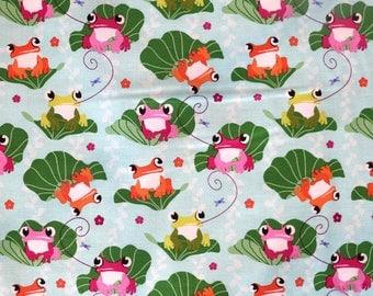 Fabric - Michael Miller - Unfrogettable - medium weight woven cotton fabric.