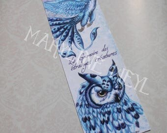 "Bookmark ""book of strange creatures"" ice Phoenix"