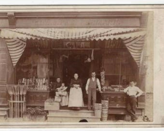 Rare Victorian Era 1800s Outdoor Cabinet Card General Store Identified Occupational