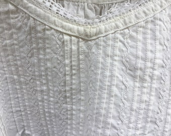 French antique cotton night dress