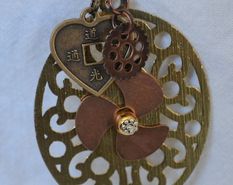 Steampunk Artisan Auto Rearview Mirror Accessory Jewelry Gizmo