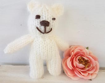Toy Bear  Stuffie photo prop -  Baby bear photo prop - newborn teddy bear toy. Tiny Bear.  bear photo prop - newborn bear. UK seller