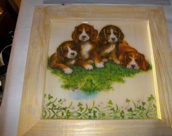 Decorative frame Interior dogs pattern