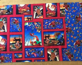 Country western Christmas themed pillowcase