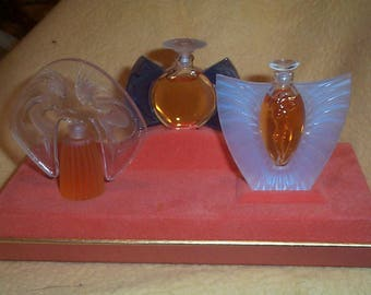 Exquisite Lalique Limited Editions miniature perfumes  NIB Les Introuvables