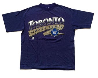 1994 toronto maple leafs t shirt pinstriped ravens t shirt size Medium deadstock stripes top