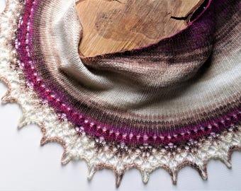 Light Scarf,Warm Scarf,Triangle Shaped Scarf,Winter Scarf,Wool Scarf,Blue Scarf,Brown Shawl,Handmade Scarf