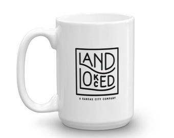 Kansas City Coffee Mug - Landlocked Coffee Mug - Kansas City Gifts