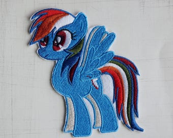 8 x 10.3cm, My Little Pony Rainbow Dash Iron On Patch (P-531)