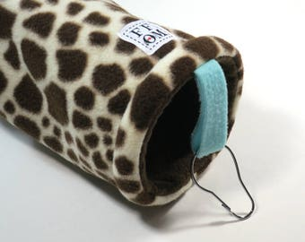 Small pet tunnel or hammock for guinea pigs, sugar gliders or rats - giraffe print - READY TO SHIP