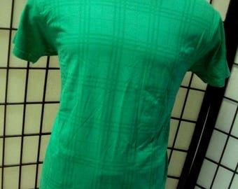 Burberry designer green plaid t shirt soft cotton 2XL tee XXL