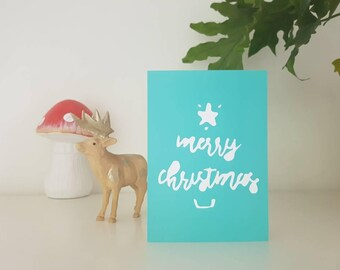 CARD; Christmas gift card with envelope, designed in Melbourne