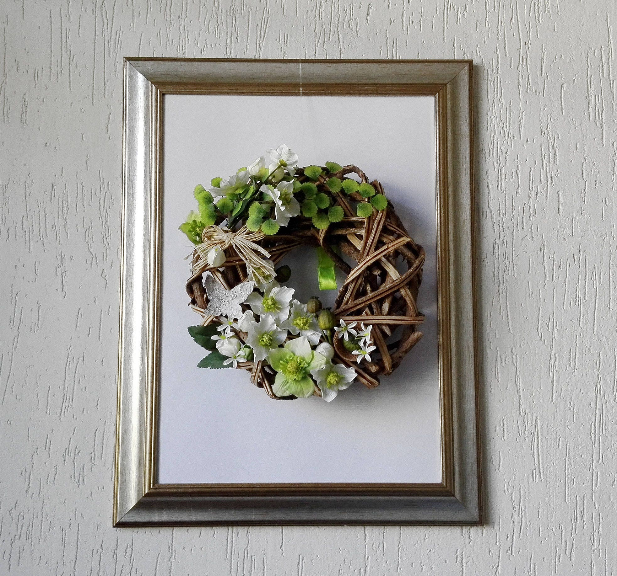 elegant fireplace wreath made in italy gorgeous wall decor