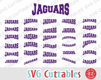 Jaguars EZ Layouts, svg, eps, dxf, Set of 30, Digital Cut File for cutting machines