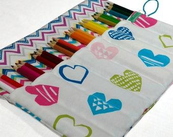 Personalized Pencil Case, Hearts