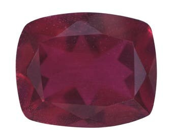 Blazing Red Triplet Quartz Loose Gemstone Cushion Cut 1A Quality 11x9mm TGW 3.50 cts.