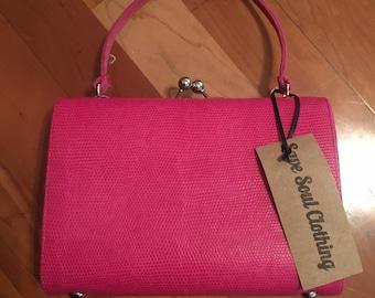 Pink bag, hot pink,
