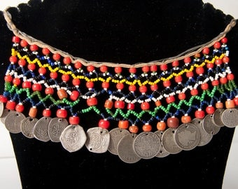 HaHa tribe from Essaouria in Morocco beaded necklace with coins