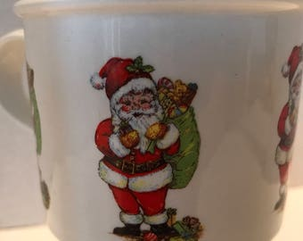 Portmeirion Santa Claus Coffee Cup Stoke On Trent Made In England