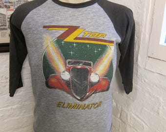 Size L (45) ** 1983 ZZ Top Eliminator Tour Shirt (Double Sided)