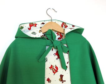 Green Woodland Children's Play Cape