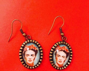 Frida Kahlo Earrings Self Portrait
