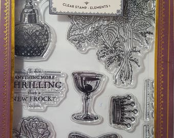 Downton Abbey Clear Stamp set: Sentiments 1