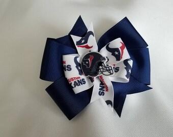 Houston Texans hair bow