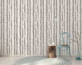 BIRCH TREE Scandinavian Wall Stencil BIRCH01