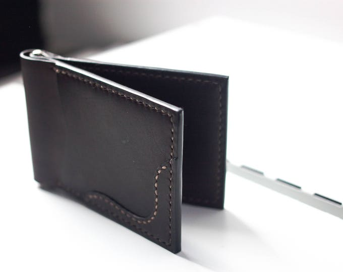 Italian Pull-Up Leather Money Clip Leather/Small leather wallet/Leather Wallet/Momey clip wallet/Leather Card holder/Men's Leather Wallet