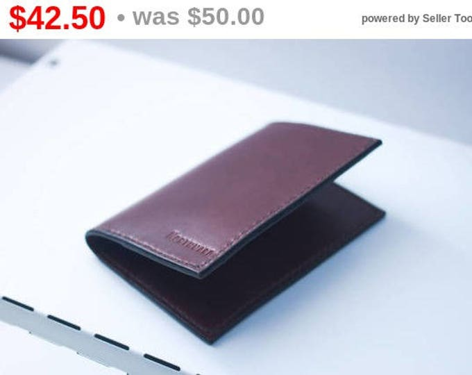 Horween Leather Passport Case/Leather Passport Holder/Passport Keeper/Leather Passport Cover/Document Holder