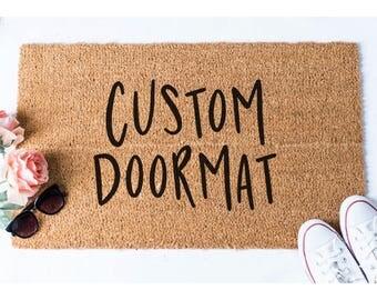 Custom Doormat - Custom Door Mat - Personalized Welcome Mat - Funny Rug - Funny Doormat - Door Mat - Welcome Doormat