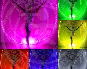 LED Bellydance wings - Outline 100 LEDs