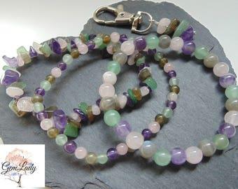 Anxiety & Stress Blend Bead Beaded Stretch Bracelet ~ Gemstone Crystal Healing ~ Amethyst, Green Aventurine, Labradorite, Rose Quartz