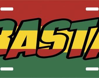 Rasta License Plate Novelty Tag Holder