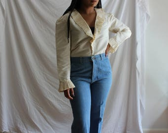 Vintage Levi's High-Waisted Baby Blue Jeans