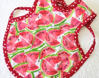 Watermelon Bapron Bib, Red and Green Bapron, PUL Reversible bib, Watermelon baby bib, toddler bib, baby bib, Bapron bibs, Baby gift
