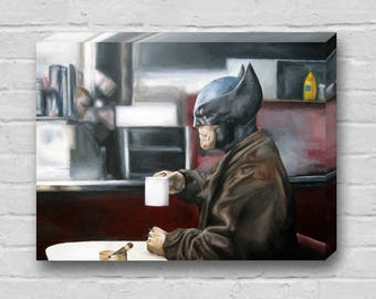 Wolverine Needs Coffee - Superhero Wolverine X-Men X-Force Canvas Art Print