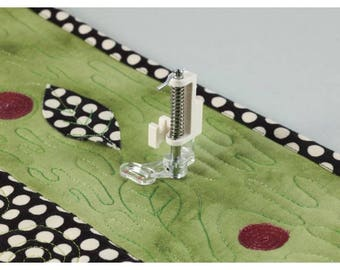 Clear foot for quilting
