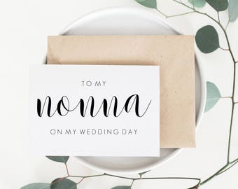 Wedding Card For Nonna. Nonna Wedding Card. Nonna Card. Wedding Card For Grandmother. Grandmother Wedding Card. Grandmother Card.