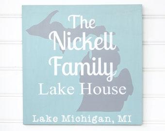 Lake House Sign - Family Sign - Custom Family Sign - Established Family Sign - Family Name Sign - Family Name Sign Wood - Family Sign Wood