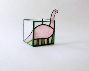 Candlestick cube dinosaur diplodocus