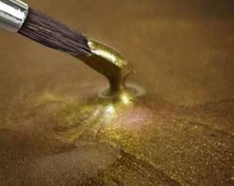 100% Edible Liquid Gold Food Paint/Rainbow Dust Metallic Food Paint - Gold / 25g
